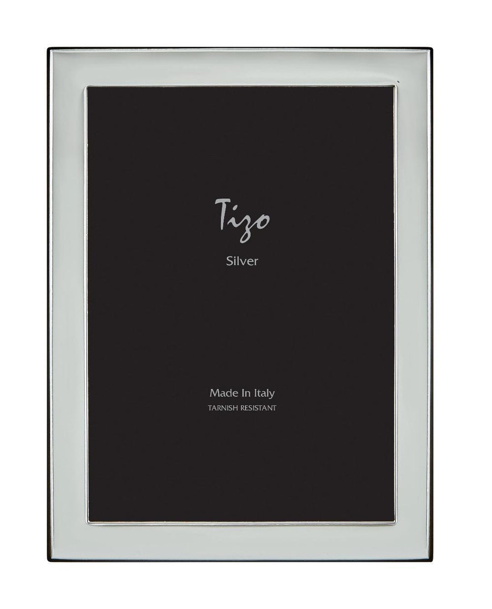 Tizo 5x7 Narrow Plain Silverplate Frame