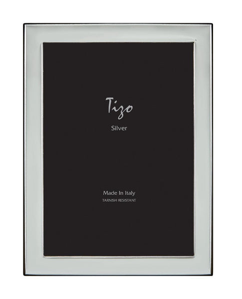Tizo Designs Picture Frames Tizo 5x7 Narrow Plain Silverplate Frame