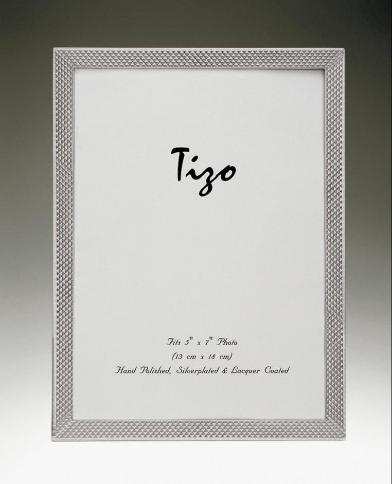 Tizo 5x7 Narrow Scaled Silverplate Frame