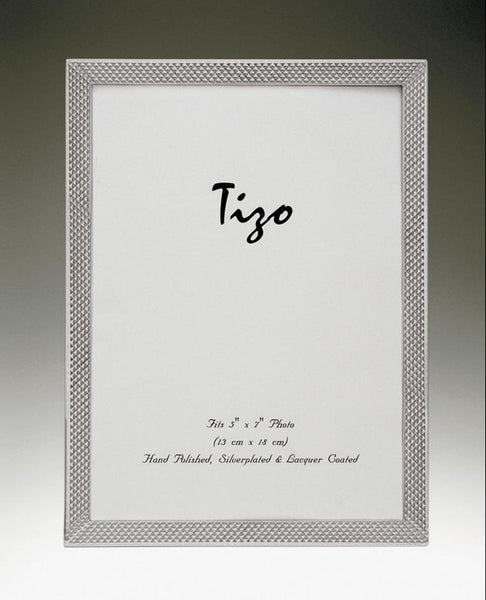 Tizo Designs Picture Frames Tizo 5x7 Narrow Scaled Silverplate Frame