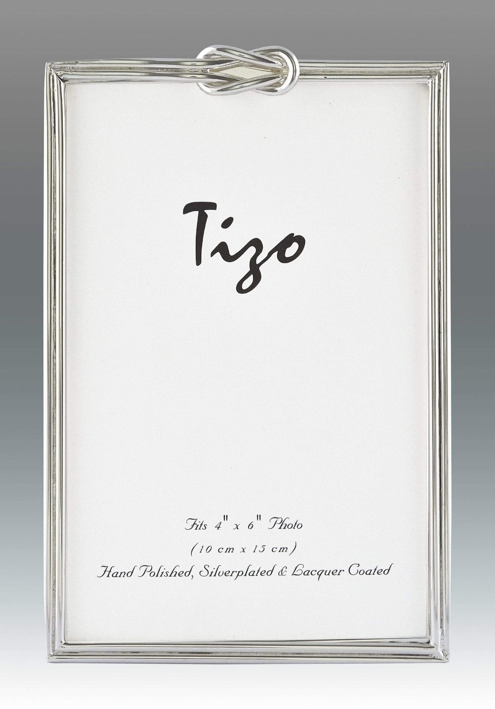 Tizo 5x7 Slim Single Knot Silverplate Frame