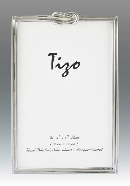 Tizo Designs Picture Frames Tizo 5x7 Slim Single Knot Silverplate Frame