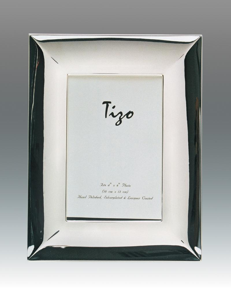 Tizo 5x7 Wide Dimensional Silverplate Frame