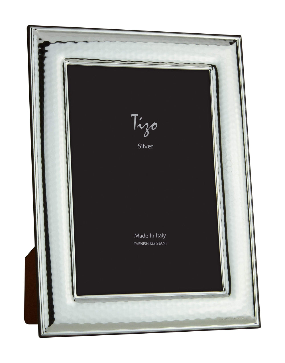 Tizo 8x10 Bezel Edge Hammered Silverplate Frame