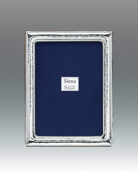 Tizo Designs Picture Frames Tizo 8x10 Dimensional Hammered Siena Sterling Frame