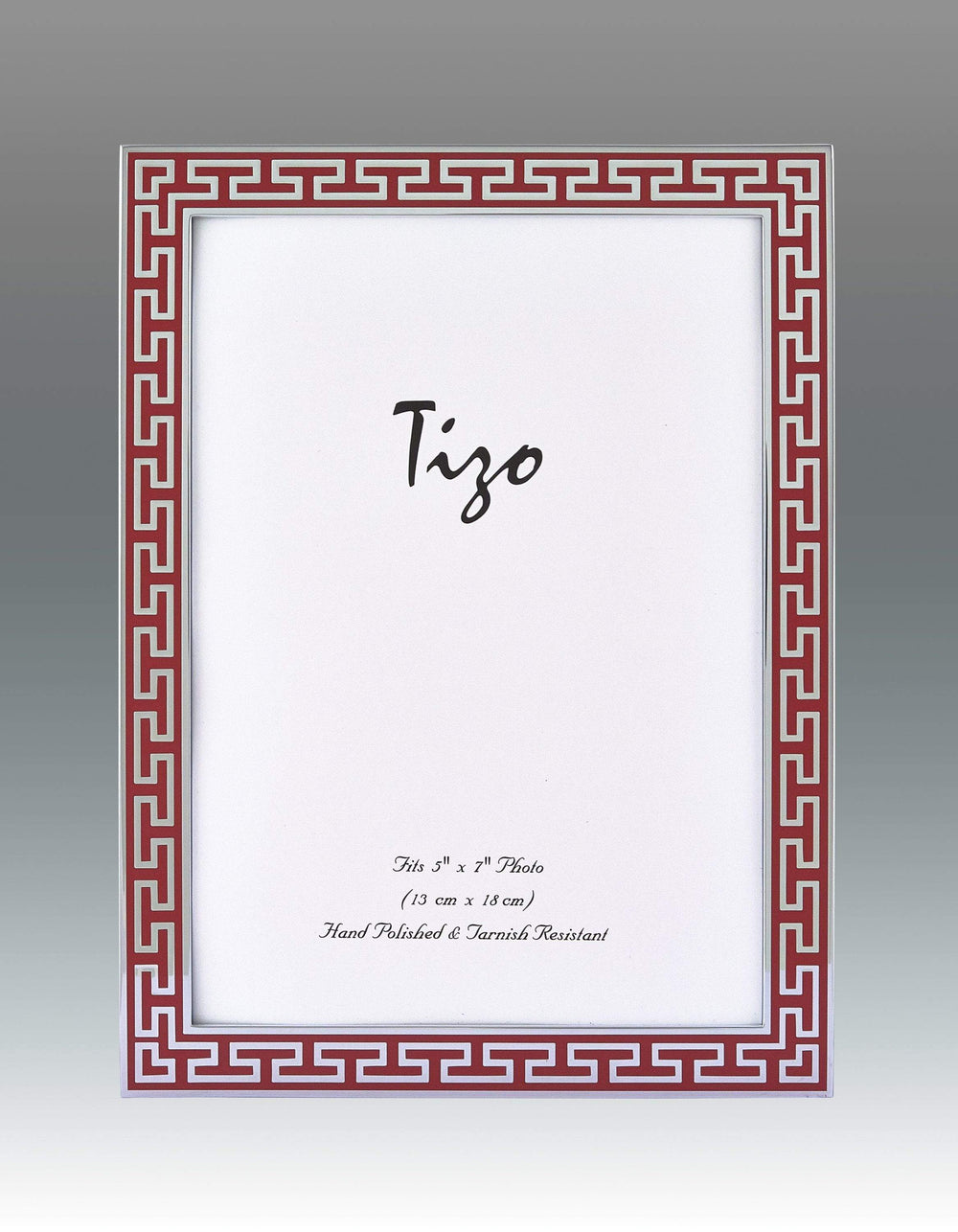 Tizo 8x10 Greek Key Enamel Frame, Red