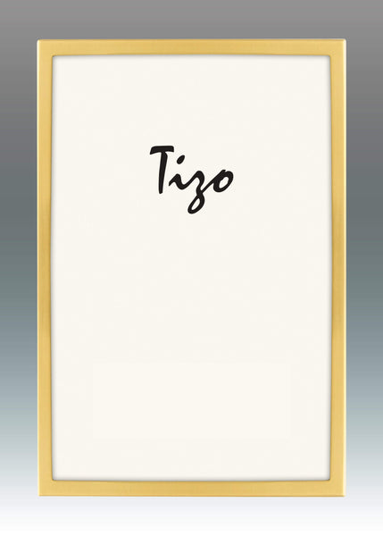 Tizo Designs Picture Frames Tizo 8x10 Narrow Flat Plain Silverplate Frame (Bronze)