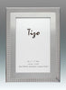 Tizo Designs Picture Frames Tizo 8x10 Outer Narrow Mesh Border Silverplate Frame