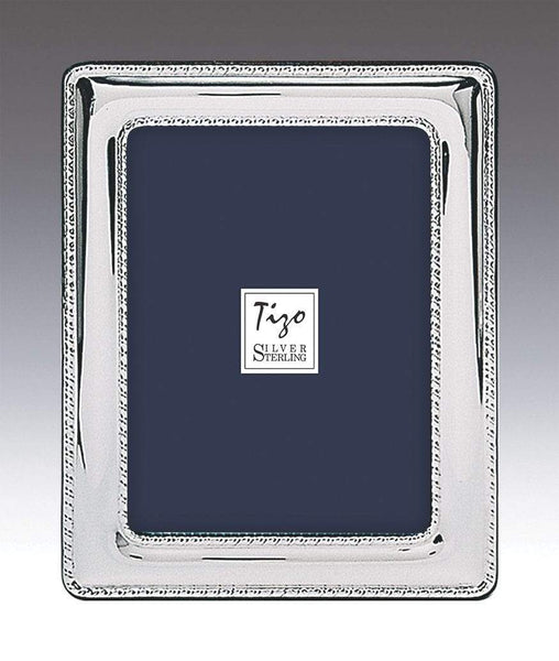 Tizo Designs Picture Frames Tizo 8x10 Rounded Double Beaded Sterling Silver Frame