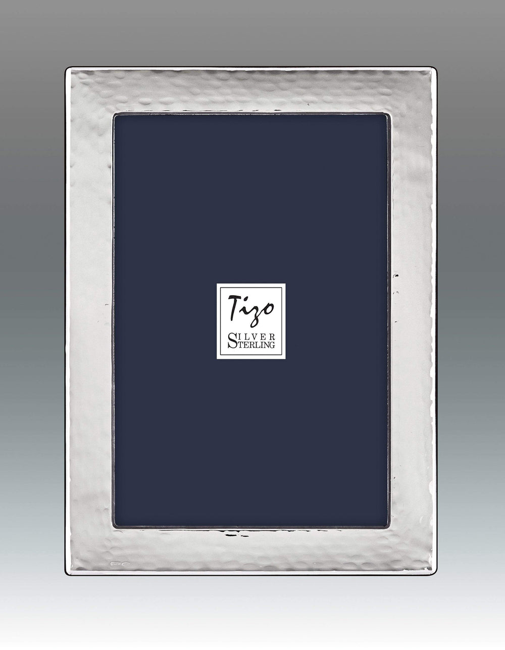 Tizo 8x10 Rounded Hammered Sterling Silver Frame