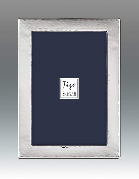 Tizo Designs Picture Frames Tizo 8x10 Rounded Hammered Sterling Silver Frame