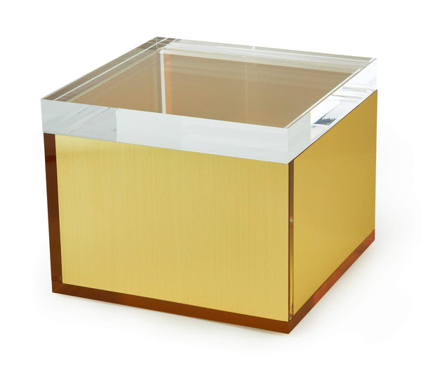 Tizo Designs Home Tizo Acrylic Square Box Large, Gold