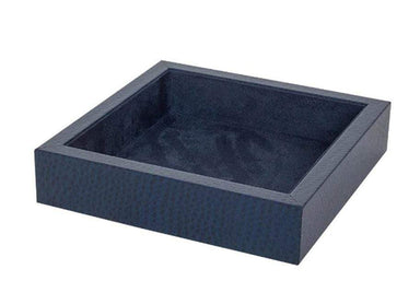 Tizo Designs Giftware Tizo Faux Leather 7 X 7 Tray Blue