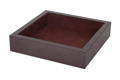 Tizo Designs Giftware Tizo Faux Leather 7 X 7 Tray Brown