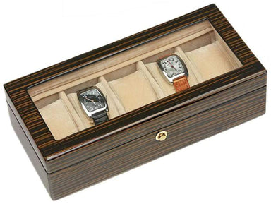 Tizo Designs Giftware Tizo Italian Designed 5 pc Watch Box Zebrawood