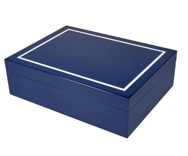 Tizo Designs Giftware Tizo Italian Designed Wood Jewelry Box Blue