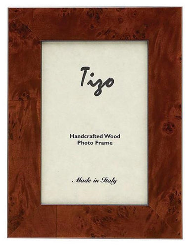 Tizo Designs Picture Frames Tizo Italian Wood Frame Brown 3x3