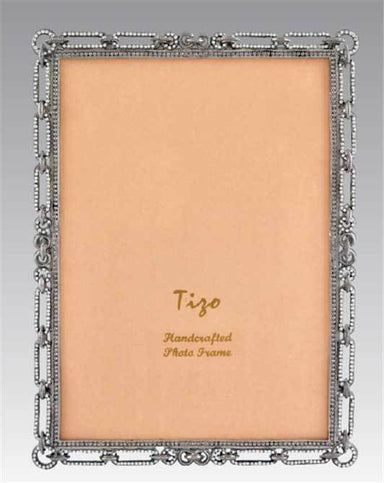Tizo Designs Picture Frames Tizo Jeweled Link 5 x 7 Picture Frame