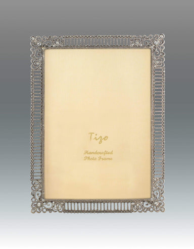 Tizo Designs Picture Frames Tizo Lattice Jeweled 8x10 Frame