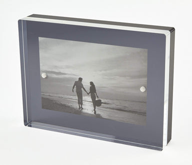 Tizo Designs Picture Frames Tizo Lucite Photo Frame Black 5x7