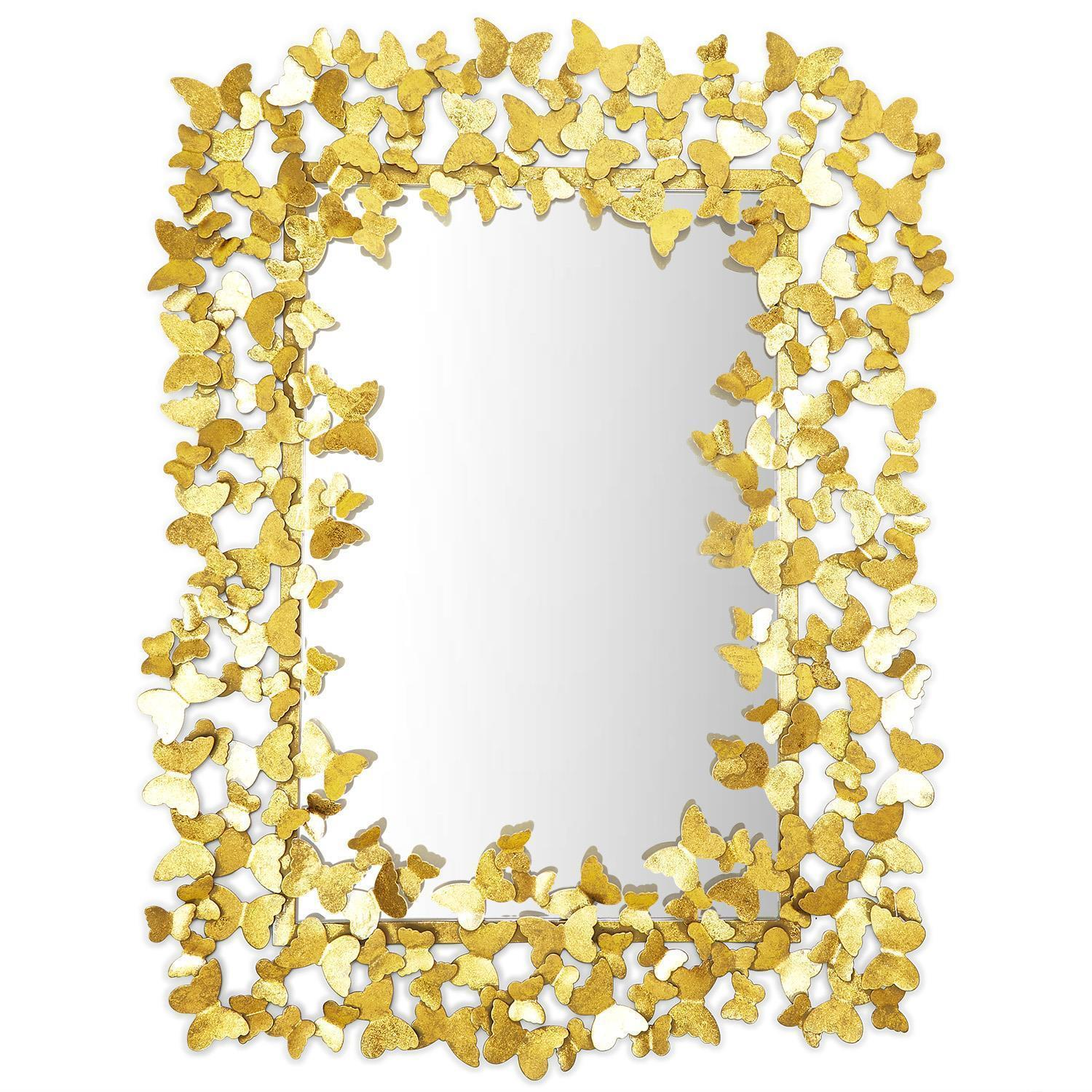 Tozai Home Golden Butterfly Wall Mirror