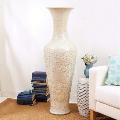 Tozai Home Home Tozai Home Long Necked Vase With Mother Of Pearl Effect