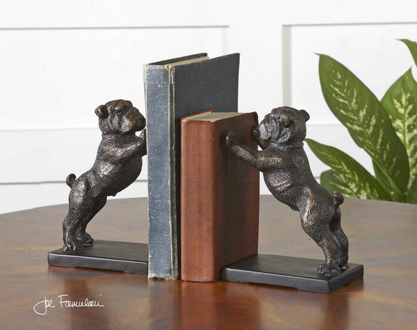 Uttermost Home BULLDOGS BOOKENDS
