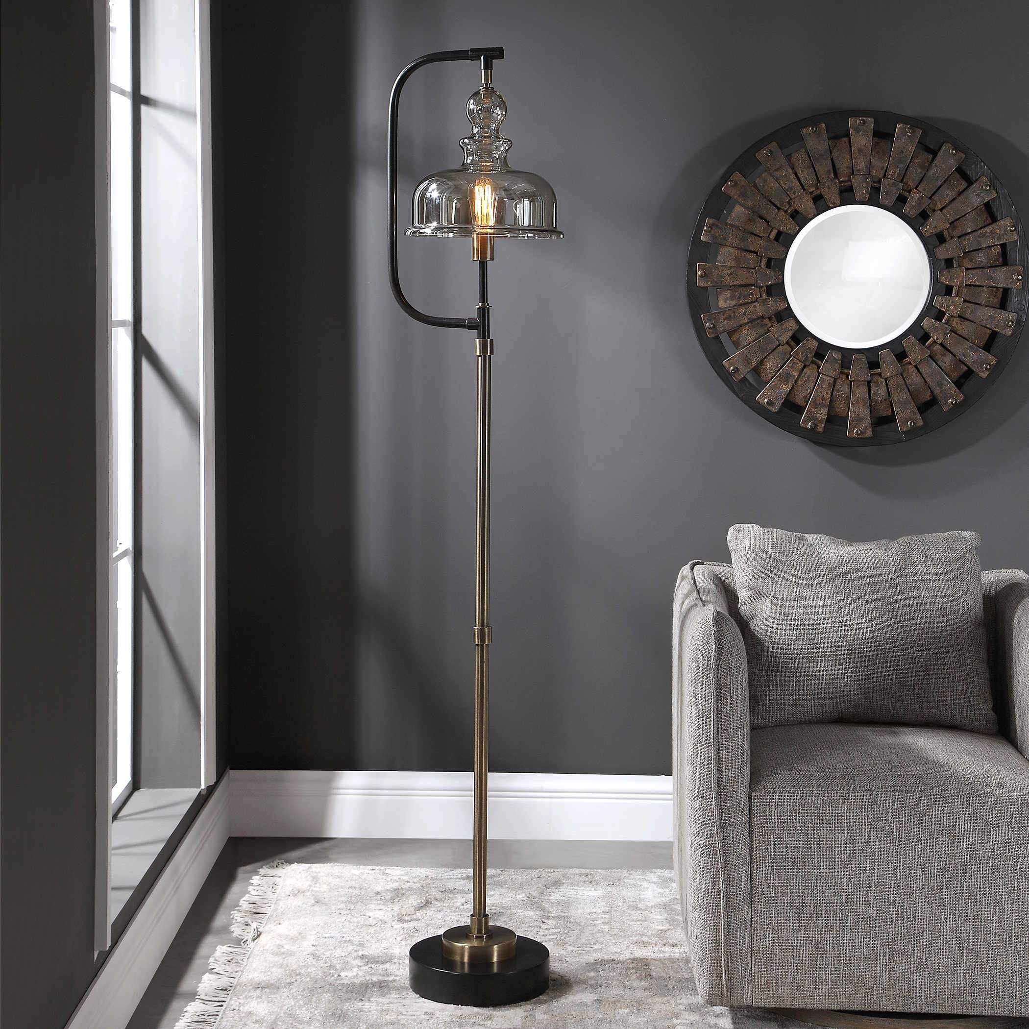 Uttermost Elieser Floor Lamp; AVAIL: MAY 01, 2021