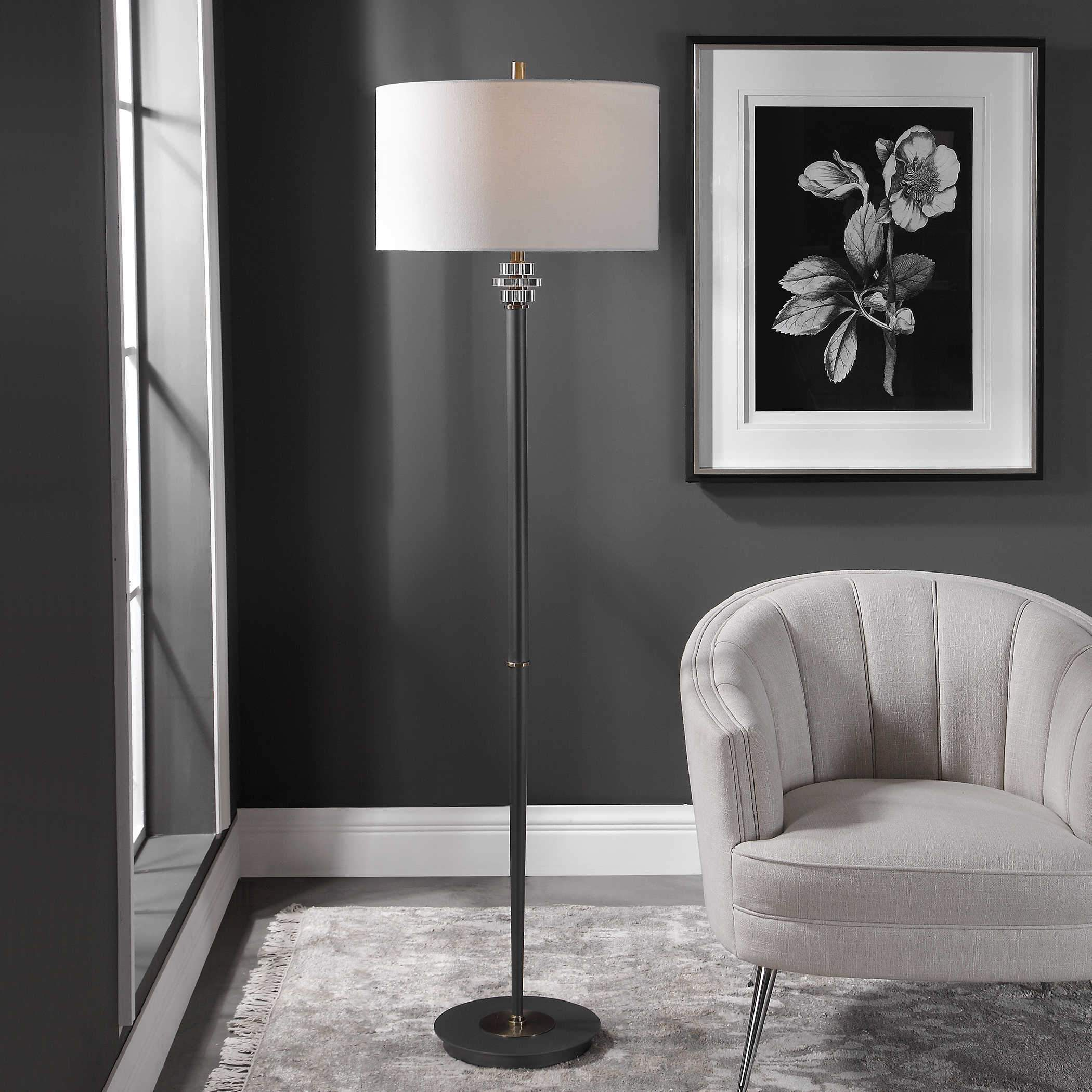 Uttermost Magen Floor Lamp; AVAIL: APR 21, 2021