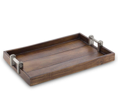 Vagabond House Serveware Vagabond House Wood Tray With Faux Bois Handles