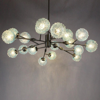Viz Art Glass Lighting Aurora Chandelier by Viz Art Glass CH-D2-18SBA