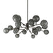 Viz Art Glass Lighting Aurora Chandelier by Viz Art Glass CH-D2-18SBSM