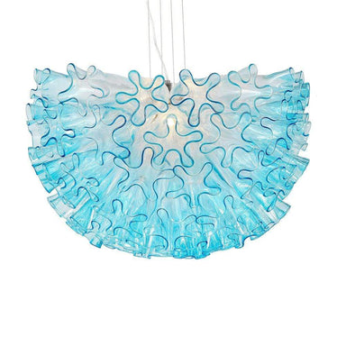 Viz Art Glass Lighting Dahlia Chandelier Aqua Small by Viz Glass