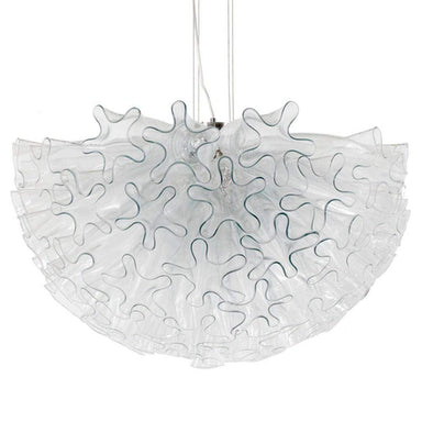 Viz Art Glass Lighting Dahlia Chandelier Clear Mini by Viz Glass