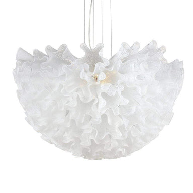 Viz Art Glass Lighting Dahlia Chandelier Opaline Mini by Viz Glass