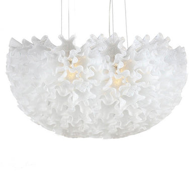 Viz Art Glass Lighting Dahlia Linear Chandelier Opaline  by Viz Glass