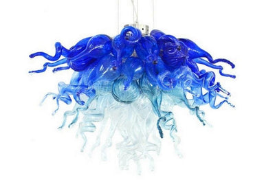 Viz Art Glass Lighting Viz Art Glass Blue Ombre Large Chandelier
