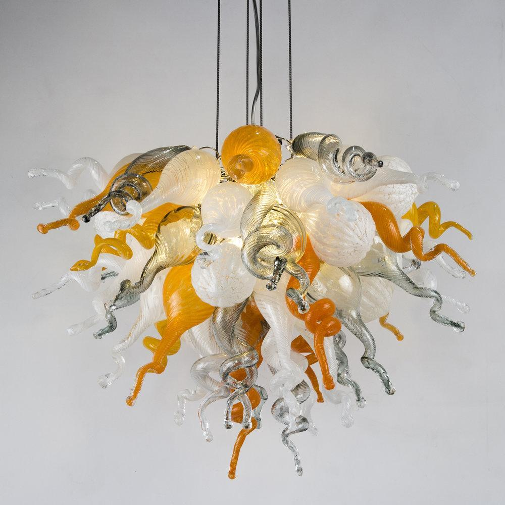 Viz Art Glass ColorSelect Large Platinum Citrus Chandelier