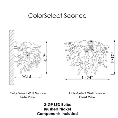 Viz Art Glass Lighting Viz Art Glass ColorSelect Sconce Ocean Mist