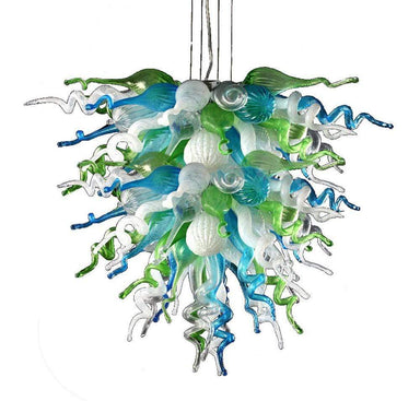 Viz Art Glass Lighting Viz Art Glass Ocean Mist Large Chandelier