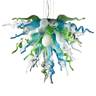 Viz Art Glass Lighting Viz Art Glass Ocean Mist Small Chandelier
