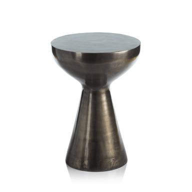 Zodax Home Kenya Round Silver Antique Stool