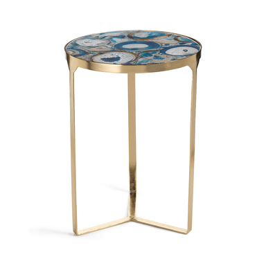 Zodax Home La Sardaigne Blue Agate End Table