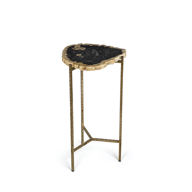 Zodax Home Porto Alegre Petrified Wood Side Table - Short