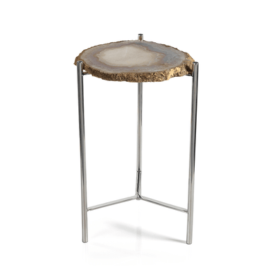 Zodax Home Savona Agate Accent Table
