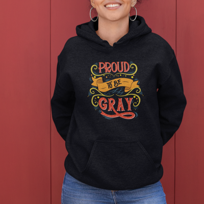 Hoodie for women who are growing out grey hair