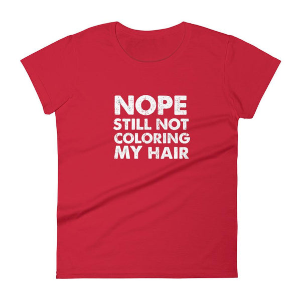 T shirt for women who are growing out gray hair