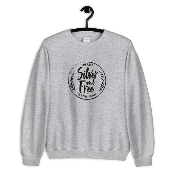 Sweatshirt for women who are growing out gray hair