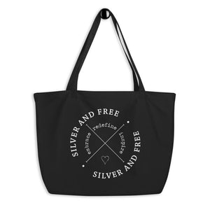 Tote Bag for women who are growing out gray hair