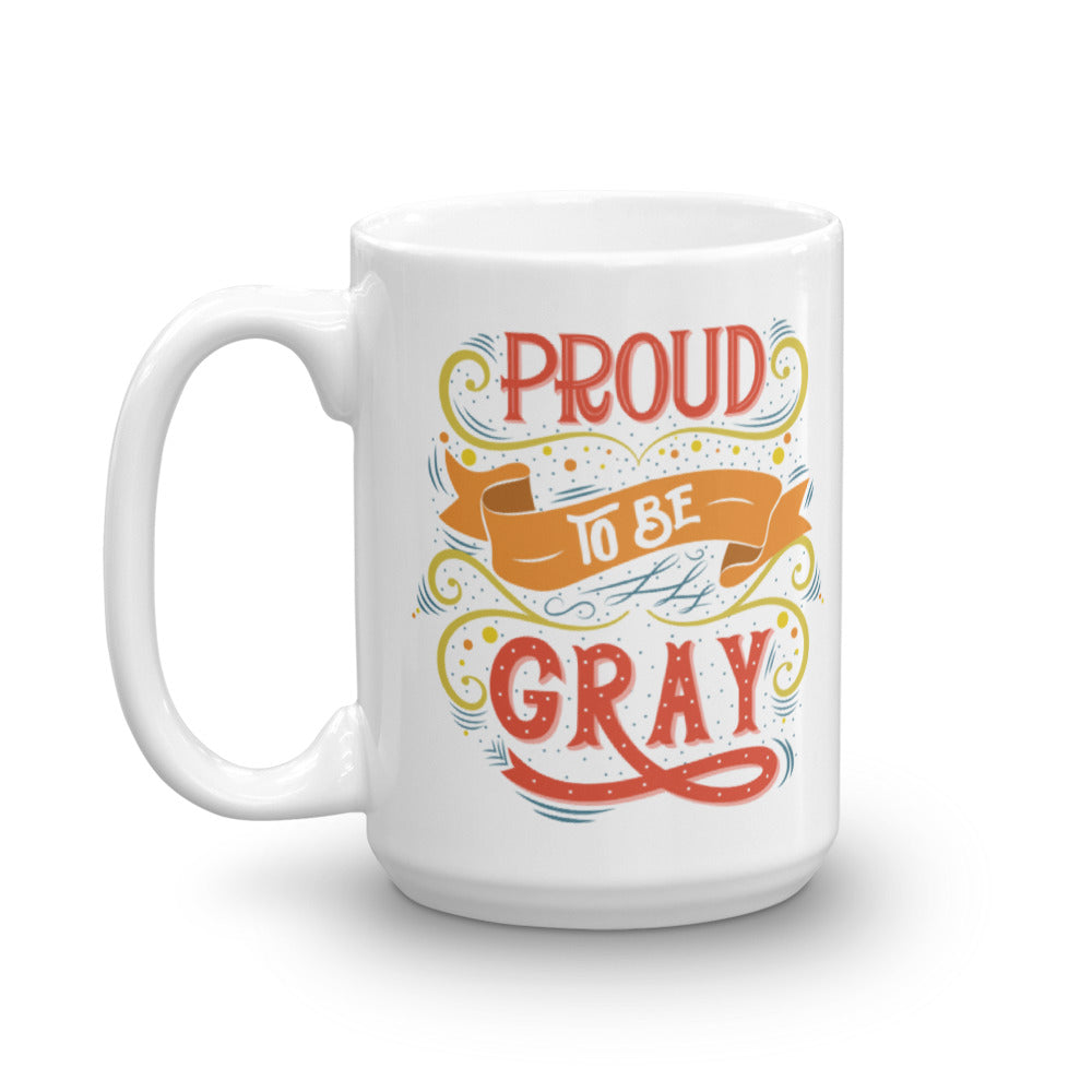 Coffee mug for women who are growing out gray hair